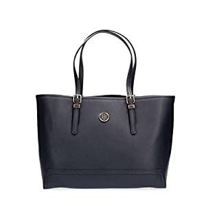 Tommy Hilfiger Damen Honey Med Tote Stofftasche, Blau, 14x28x39 cm