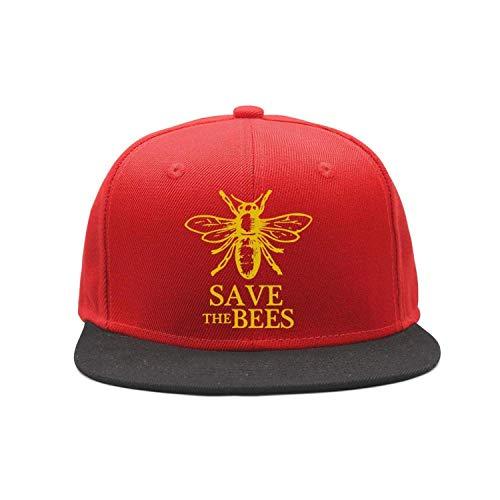 Angie Yates Speichern Sie die Bienen Flat-Brim Baseball Caps Unisex Snapback Verstellbarer Hut für Männer/Frauen