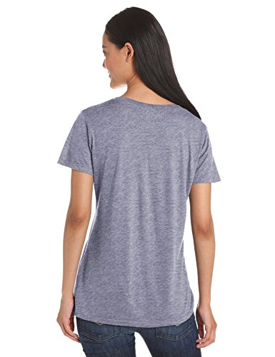 Splendid Damen T-Shirt Very Light Jersey SL V-Neck Grau