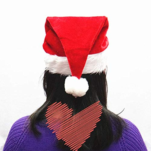Kostüm Für Christmas Party Erwachsene - Fliyeong 4 Stück Weihnachten Weihnachtsmann Mütze-verdicken Pleuche Samt Comfort Liner Beanies-Classic Party Xmas Kostüm für Erwachsene Kinder langlebig und nützlich