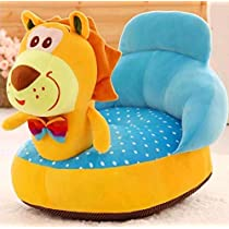 SAKOZI Soft and Rocking Chair Skin Friendly Elephant Shape Baby Supporting Seat Soft Plush Cushion and Chair for Kids/Baby – (Tiger-Yellow)