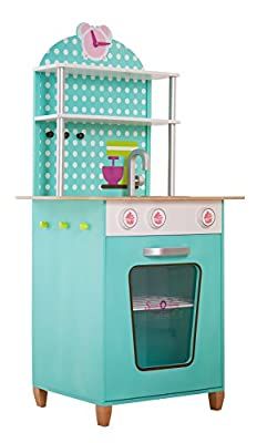 "Beluga ""Sweet and Easy"" Wooden Play Kitchen In Mint (Multi-Colour)"