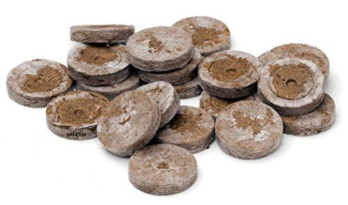 GREEN24 20 St. Jiffy Original Quell-Tabletten Torf-Quelltöpfe Aussaaterde Anzuchterde 44mm Torftablette mit Anleitung