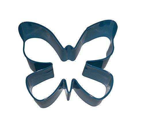 Ausstechform für Kekse, Emaille, Motiv: Schmetterling, Blau