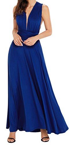 EasyMy Damen Maxi Kleid Cabrio Verpackt Cocktailkleid Abendkleider (Für Jahre 70er Kleidung Partei)