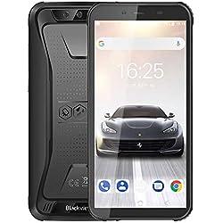 Smartphone Débloqué 4G, Blackview® BV5500 Pro 2020, 5,5 Pouces Android 9.0 Telephone étanche, 3Go RAM+16Go ROM Dual SIM Téléphone Incassable, 8MP+5MP, Batterie 4400mAh, Face ID/GPS/GLONASS/Compass