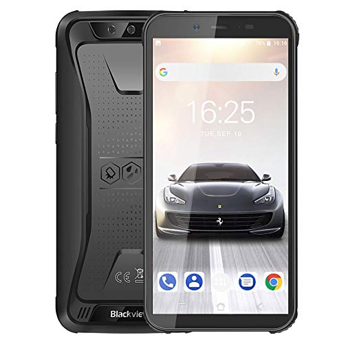 rugged smartphone in offerta 4g, blackview bv5500 pro cellulare antiurto android 9.0, 5.5 pollici hd ip68 telefoni resistenti, 3gb +16gb, tf 128gb, batteria 4400mah, dual sim, nfc/gps/face id/compass
