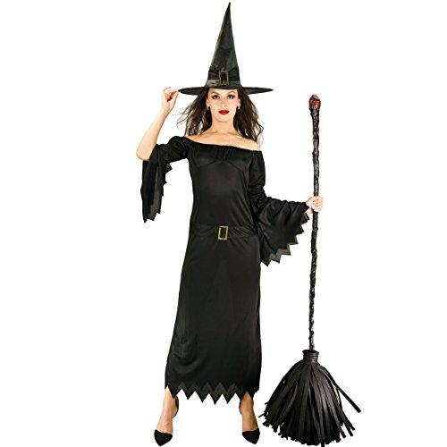 Hexe Frauen Kostüme (Sea Hare Abendkleid -erwachsene Frauen klassische Hexe)