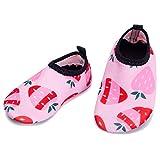L-RUNJP Baby Watershoes Leichte Kleinkind Aqua Socke Wanderschuhe Erdbeere 0-6 Monat = EU15-16