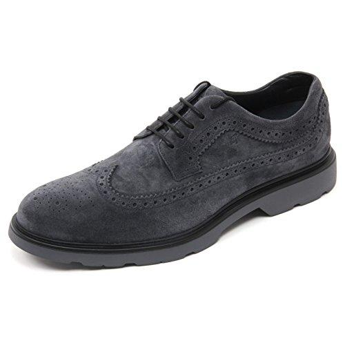 B7104 scarpa inglese uomo HOGAN H304 scarpa blu denim/grigio shoe man blu denim/grigio