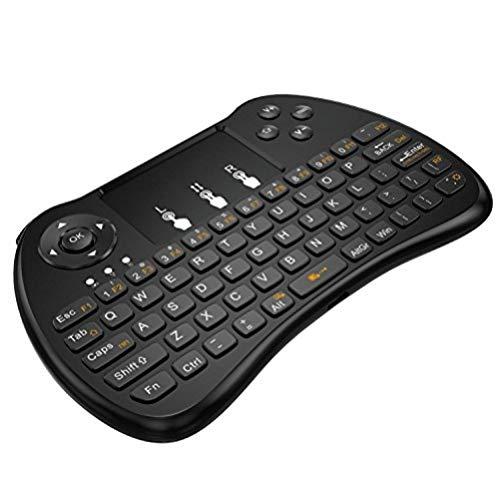 SEGURO Mini 2.4Ghz Wireless Schnurlos Kabellose Touch Tastatur mit Touchpad und Multimedia-Tasten für PC, Android TV und Weitere