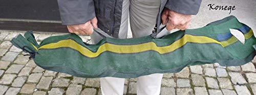 Silosäcke 15 Stück, 25cm x 100cm, mit Tragegriffen und Zurrband