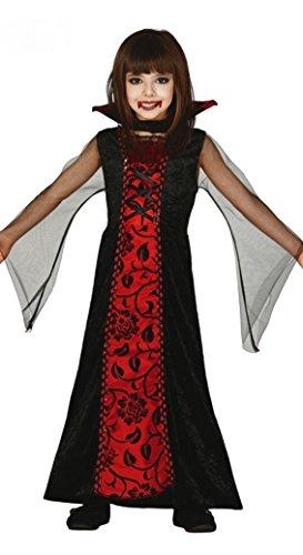 Kostüm Halloween Vampir Lady (Kinder Vampir Kostüm Gr. 98-146,)