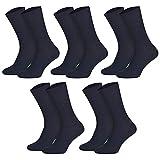 socksPur 5pares de calcetines para hombre de la Salud Top–Artículo. Todo el año sin impresión de goma. marine 39