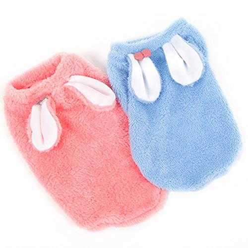 Soft Kaninchen Kostüm - Hoopet New Soft Girl Furry Kaninchen Kostüm Großhandel Pet Kleidung Frühling und Herbst Hund Hund Kleid weich und hautfreundlich - Pink - S