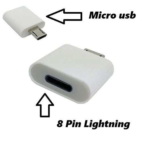 EASYPLACE Adattatore da Micro-USB Maschio a Lightning 8-Pin Femmina Bianco