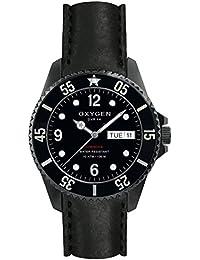 University Sports Press EX-D-MBB-44-CL-BL - Reloj de cuarzo unisex, correa de cuero color negro