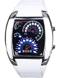 Yesurprise Montre Electronique Montre à LED Fashion Rectangle Bracelet en silicone Multiple-1#