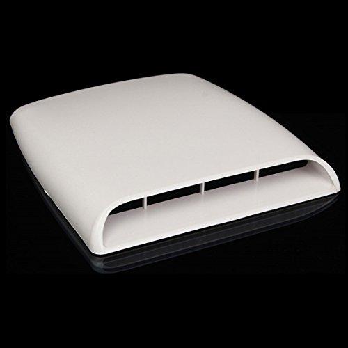 YONGYAO Auto Dekorative Luftströmung Einlass Haube Schaufel Ventilhaube Abdeckung Weiß Universal