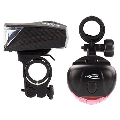 ANSMANN LiteRider StVZO Fahrradlicht Beleuchtungsset/Fahrradlampen/Hochwertiges LED Lichtzubehör für Fahrrad oder Mountainbike mit Vorder- & Rücklicht & 2 Halterungen/Spritzwasserfest - 6