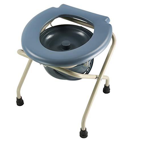 Toilettenstühle Älterer Töpfchen-Toilettenstuhl, Kohlenstoffstahlrohr Sicherheitsrahmen, Heimpflege Kommodensitz Bequemes Kissen