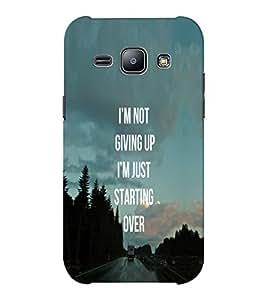 EPICCASE Let's Start Again Mobile Back Case Cover For Samsung J1 Ace (Designer Case)