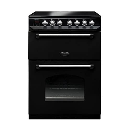 41y4SHU3ZBL. SS500  - Rangemaster CLAS60ECBLC Classic 60cm Double Oven Electric Cooker with Ceramic Hob - Black