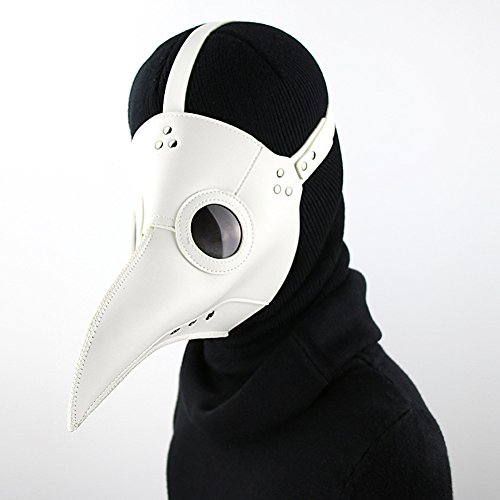 Doktor Arzt Kopfmaske Steampunk Kostüm Zubehör für Erwachsene Halloween Party Fasching Karneval PU Leder Schwarz (Pest-masken)