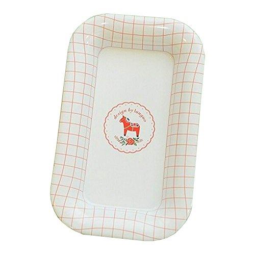 Set aus 2 Küchenzubehör Tabletts Trockenobst Aufbewahrungsbehälter White Plaid (Eisen Plaid)