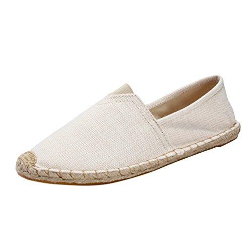 Dooxii Unisex Hombre Mujer Amantes Ocasionales Loafer Zapatos Moda Planos Alpargatas 3522.5cm