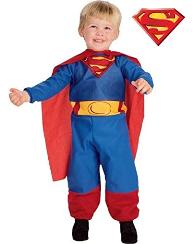 Superman Infant Costumes - Superman tm Jumpsuit Style Fleece Costume Size