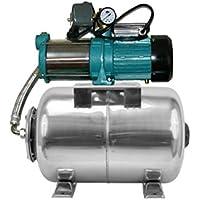 Pompe d'arrosage POMPE DE JARDIN pour puits 1100 W, 230V, 95l/min + ballon surpresseur INOX 100 L