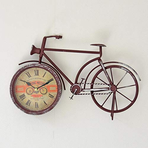 ZMSL Relojes de Estilo Antiguo Reloj de Escritorio de Bicicleta de ...