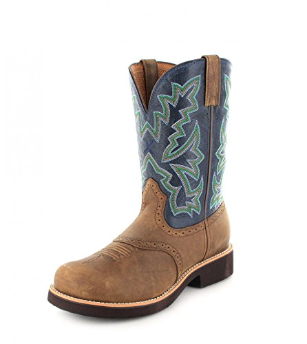 Twisted X Boots  1716 - MBB0002, Bottes et bottines cowboy homme Multicolore - Saddle Blue
