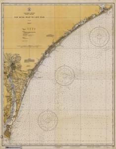 Historische Seekarte 1235–07–1933: NC, New River Einlass zu Cape Fear Jahr 1933von oceangrafix (Cape Oceangrafix)
