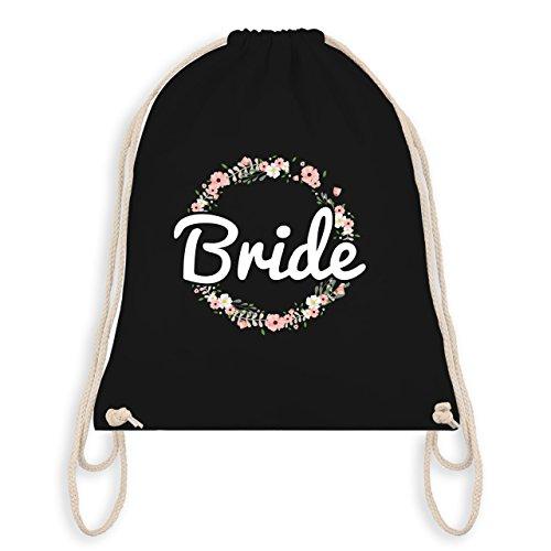 JGA Junggesellinnenabschied - Bride Blumenkranz - Turnbeutel I Gym Bag Schwarz