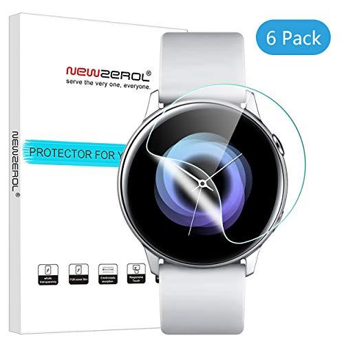 NEWZEROL [6 Pezzi] Compatibile per Samsung Galaxy Active Watch Proteggi Schermo,Proteggi Schermo ad Alta Definizione in Vetro Antiproiettile Scratch Free Bubble Free, Clear Screen Protector