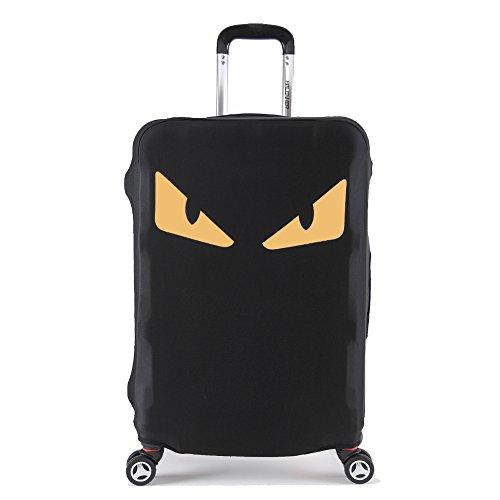 Artone Mostro Occhi Lavabile Spandex Viaggio Protezione Bagagli Bagaglio Copertura Valigia Misura 26-28 Pollici Bagagli Giallo