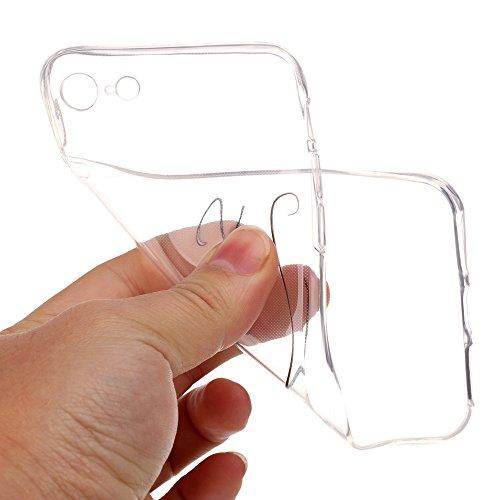 iPhone 7 Hülle, SHUNDA Ultra Dünn Schutzhülle Weiche TPU Silicone Stoßstangen Handyhülle Abdeckung Rückschale Case cover für iPhone 7 (4.7 inch) - Weiß Marmor Lächeln