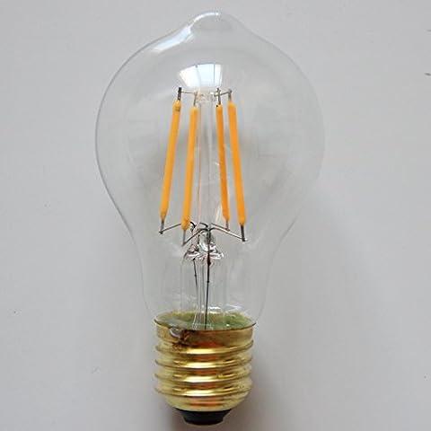 ALK 4W A60E27Schraube Classic dimmbar LED Filament Glühlampe, warm weiß 2700K GLS A19ES LED Vintage Edison Glühbirne 40W Glühlampe Ersatz