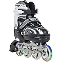 ABEC 5 Bearing Microfaser Thermoformbar Anatomical Foam Padding HI-LO Steel Chassis Gr/ö/ße w/ählbar Bauer Inlinehockey Skates XR400 SR 76A Court