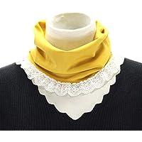GROOMY Moda Falso Cuello de Encaje de Las Mujeres Falso Alto Cuello Desmontable Collar de la Solapa de la Blusa de Las señoras Ajustar Accesorios de Ropa