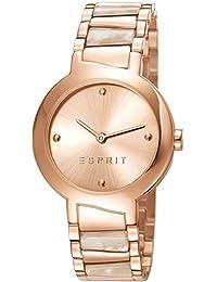 Esprit Damen-Armbanduhr Mona Deco Tortoise Analog Quarz Edelstahl ES107692004