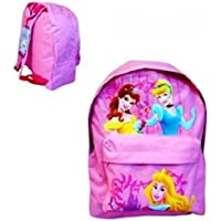 Disney Princess - Large Backpack with Front Pocket featuring Belle, Cinderella and Sleeping Beauty School Bag