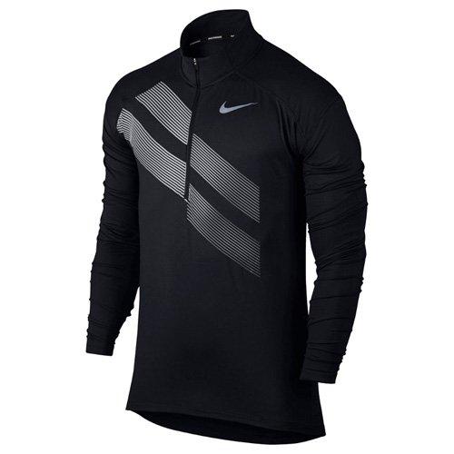 Nike Herren M NK Dry Element Top Half Zip Gx Lauf Oberteil, Schwarz, L (Zip Schwarz Pullover Half)