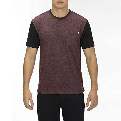 Hurley Herren M DRI-FIT Bridge Pocket S/S Oberteil, Mahogany, XL - Hurley-t-shirt Pocket