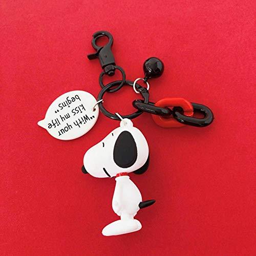 FEF Anime Llavero marrón Snoopy Muñecas Personajes