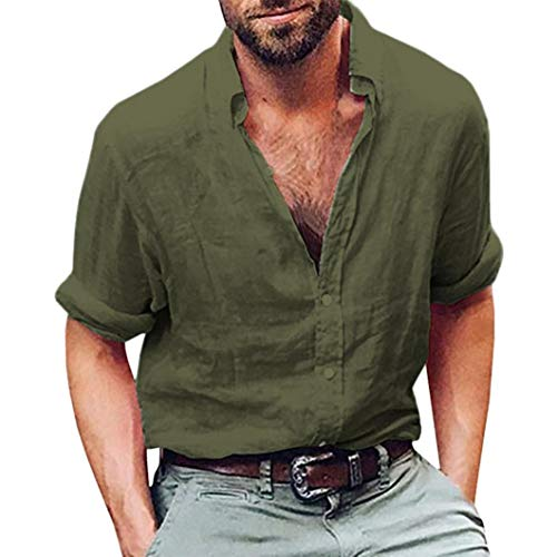 Camisas Casual Hombre Manga Larga, Covermason Blusa de Playa de...