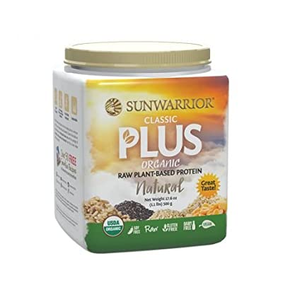 Classic Plus Raw Organic Plant Based Protein, Natural 1.1lbs from Sunwarrior