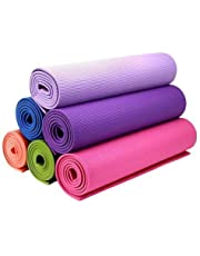 Fitness Mantra Yoga Mat High Density, Anti-Slip Yoga mat for Gym Workout and Flooring Exercise Long Size. 4 mm Yoga Mat for Men & Women Fitness [Multicolor][1 Pcs.]